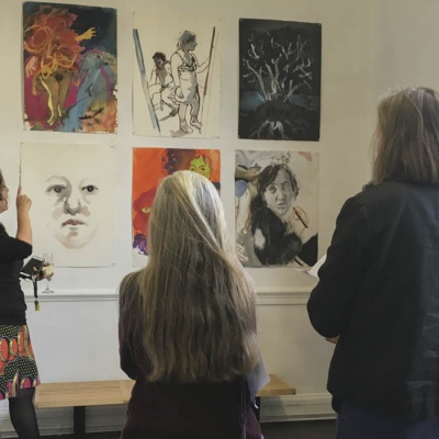 Gallery talk with Australian artist Wendy Sharpe, Theatre of Dreams exhibition at Drawing Projects UK